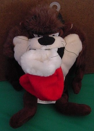Taz Tasmanian Devil Christmas Stocking Beanie Plush 8""