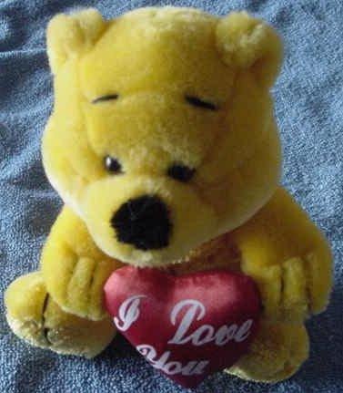 "Golden Bear I Love You Heart Stuffed Plush 8"" Valentine"