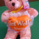 Heart Expressions Get Well Soon Bear Stuffed Plush 8""
