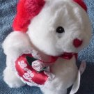Aceview White Dog Lacey Love You Heart Stuffed Plush 6""