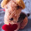 "Atico Valentine's Puppy Love Dog Sings Stuffed Plush 7"""