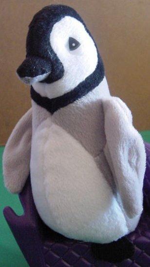 """Gray Black & White Penguin Stuffed Plush 7"""" Ring Neck"""
