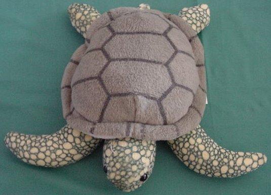 "K&M International Green Sea Turtle Beanie Plush 7"" 1997"