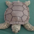 "K&M International Green Sea Turtle Beanie Plush 7"" 1997"