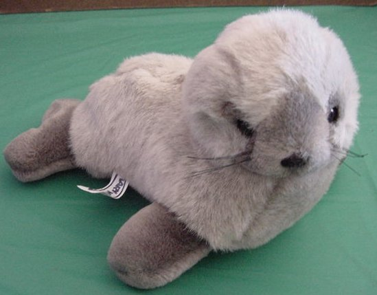Mary Meyer Soft Gray Seal 1989 Stuffed Plush 10""