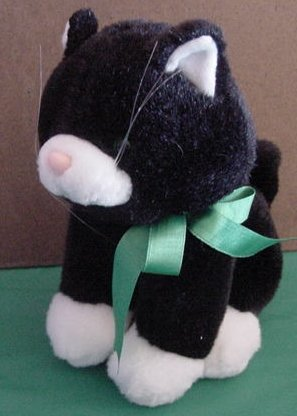 "Hallmark Black & White Cat Kitty Stuffed Plush 8"""