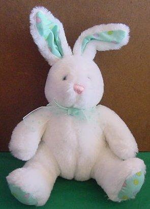 "Cute White Easter Bunny Rabbit Stuffed Plush 8"""