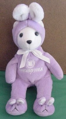 "Chicago Title Bear as Bunny Beanie Stuffed Plush 10"""