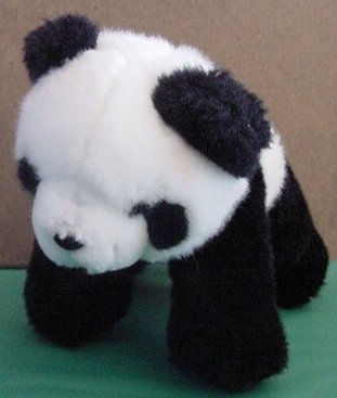 Aurora Panda Bear Stuffed Plush Beanie 6.5""