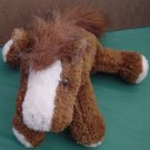 Brown & White Horse Floppy Beanie Stuffed Plush 8""