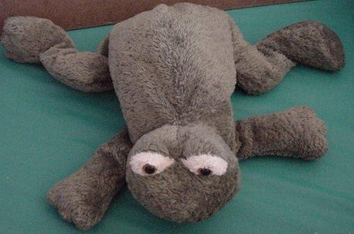 "Green Frog Soft Floppy Beanie Stuffed Plush 10"""