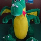 "Six Flags Green Winged Dragon Stuffed Plush 13"" Tag"
