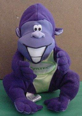"Zyrtec Drug Purple Gorilla Beanie Stuffed Plush 6"""