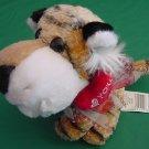 """Wal-mart I Love You Heart Tiger Beanie Stuffed Plush 5"""""""