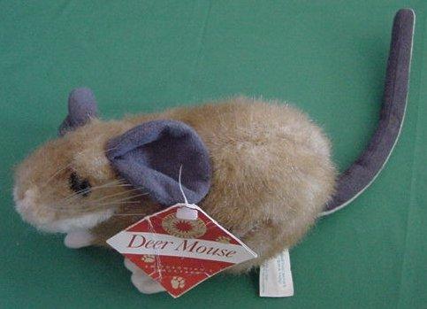 "Smithsonian Soundprints Deer Mouse Stuffed Plush 6"""