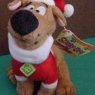 "Scooby Doo Gund JC Penney Santa Stuffed Plush 5.5"" Tag"