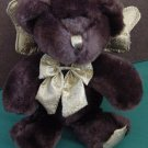 Dark Brown Angel Bear Gold Sparkle Wings Stuffed Plush