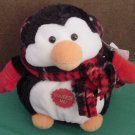 "Aurora Musical Penguin Christmas Beanie Plush 5"" Tag"
