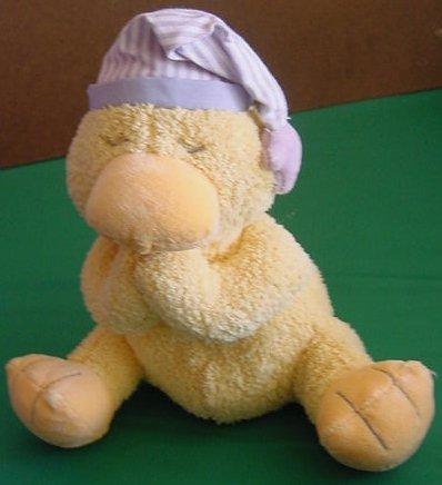 "Kids II Praying Bedtime Hat Dolly Duck Stuffed Plush 7"""