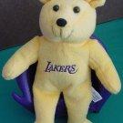 "Los Angeles Lakers I Love Chick Bear Beanie Plush 5.5"""