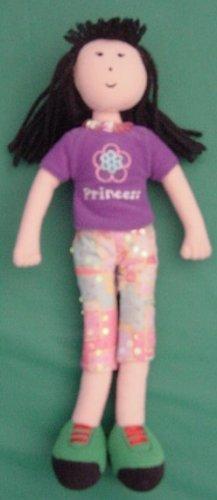 """Avon Princess Shirt Cloth Doll Plush 10.5"""" Black Hair"""