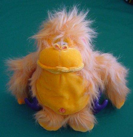 "BJ Toys Velcro Hands Orange Gorilla & banana Stuffed Plush 6"""