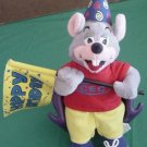 Chuck E Cheese Mouse Happy Birthday Flag Stuffed Plush 12""