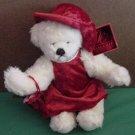 "Galerie Pretty Lady Bear Red Dress Stuffed Plush 9"" Tag"