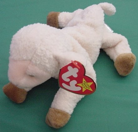 Ty Beanie Baby Ewey Lamb Sheep Ewe Tag Stuffed Plush