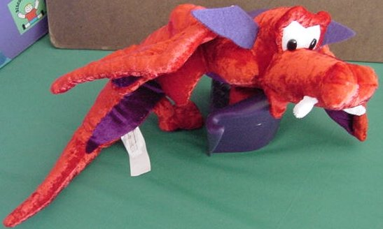 Classic Toy Red & Purple Winged Dragon Stuffed Plush