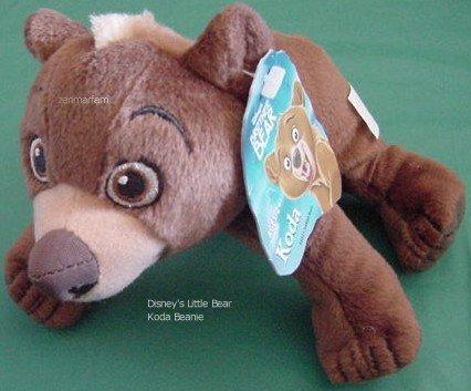 "Disney Brother Bear Brown Koda Beanie Plush 6"" Tag"