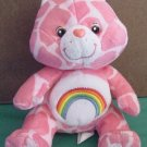 "Care Bears Cheer Bear Giraffe Print Rainbow Plush 6"""