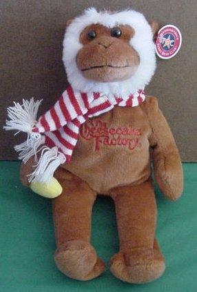 """Cheesecake Factory Monkey Herrington Beanie Plush 11"""""""