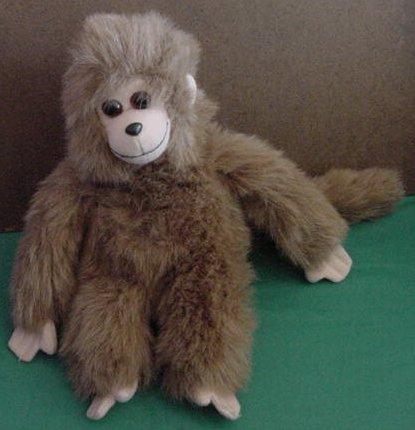 Ty Velcro Hands Fuzzy Brown Monkey 1993 Stuffed Plush