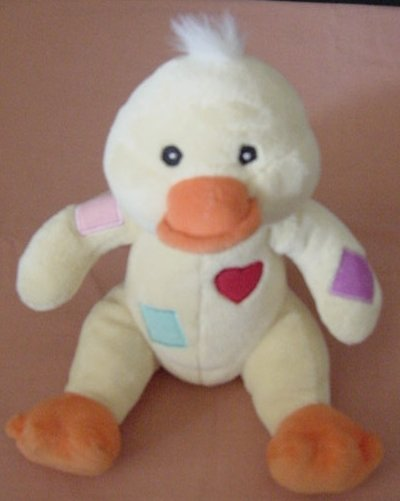 Baby Connection Rattle Duck Yellow Heart Stuffed Plush