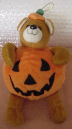"Fiesta Halloween Bear Jack O Lantern Beanie Plush 5.5"""