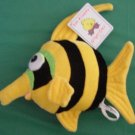 Chrisha Striped Yellow Stuffed Fish Playful Plush 8""