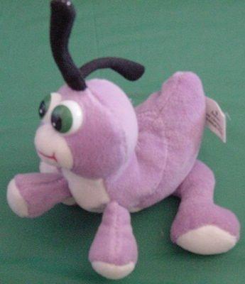 "Imperial Purple Funny Bug Beanie Stuffed Plush 6"""
