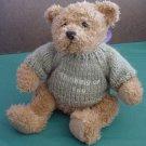 "Thinking of You Sweater Brown Bear Stuffed Plush 7.5"""