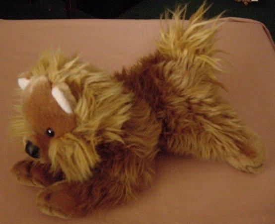 "Animal Alley Brown Dog Fox Terrier? Beanie Plush 10"""