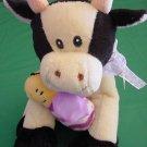 "Wal-mart Cute Cow & Bumblebee Bee Stuffed Plush 7"""
