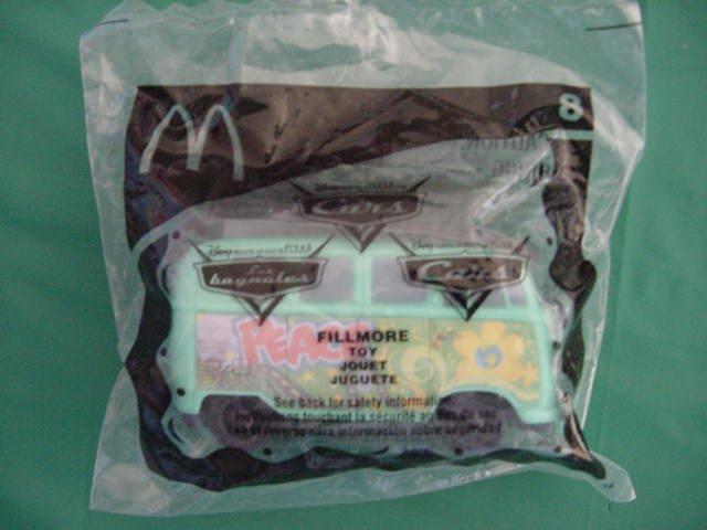 McDonalds Cars Disney Fillmore Van #8 Meal Toy in Bag