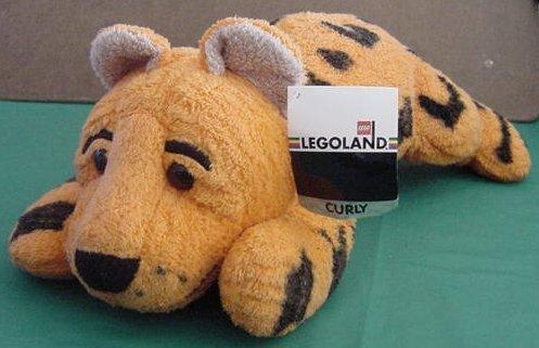 "Legoland Cheetah Curly Stuffed Plush 11"" Soft Lego"