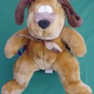 "Circus Circus Brown Funny Eyes Dog Stuffed Plush 8"" Paw Print Feet"