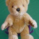 "Jointed Sitting Light Brown Bear Stuffed Plush 10"""