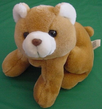 """Fiesta Light Brown Bear Cub Sitting Stuffed Plush 7"""""""