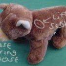 "Mary Meyer Finger Puppet Bear Beanie Stuffed Plush 6"""