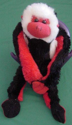 Fiesta Velcro Hands Red Black Monkey Stuffed Plush 12