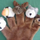Arctic Circle Glove Plush Puppet Puffin Wolf Moose Bear