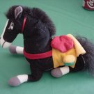 Mulan Disney Khan Black Horse Beanie Plush 6""